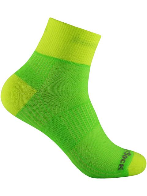 Wrightsock Coolmesh II Quarter Socks Lemon-Lime